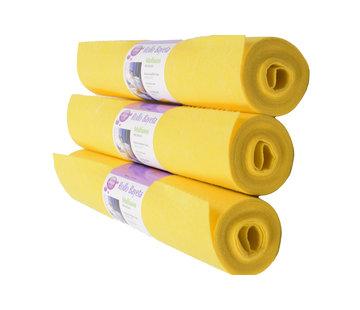 Merkloos Reinigingsdoek 4 meter rol - 3 stuks-  Poetsdoeken Geel voor schoonmaakdoek - reinigingsdoek - Sopdoeken - A kwaliteit - 12 meter