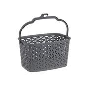 Merkloos Discountershop® | Clothespin basket | Gray | 23.6 x 12.9 x 17.2 cm