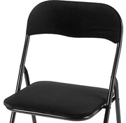 Discountershop Folding chair with seat height of 45 cm Folding chair velvet seat and back covered - chair - table chair - chair - table chair - folding chair - Velvet folding chair - Luxury folding chair - With cushions - Chair - Chairs - Folding chairs - Chair - Premiu
