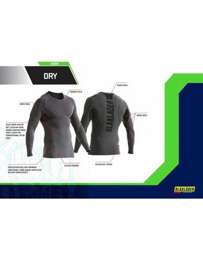 Blaklader Onderhemd Bamboo/charcoal Dry 4999