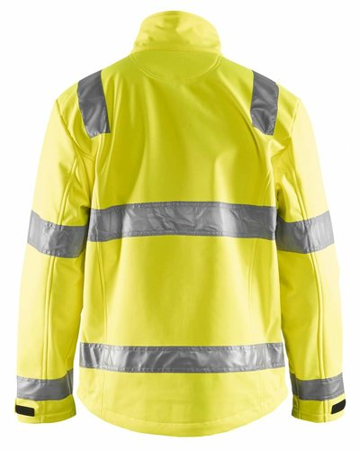 Blaklader Jas softshell High Vis met striping