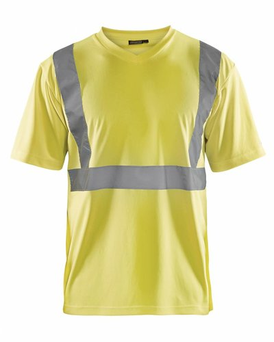 Blaklader T-shirt High Vis met striping