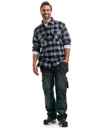 Blaklader Gevoerd flanellen overhemd 3225 in houthakkersstijl
