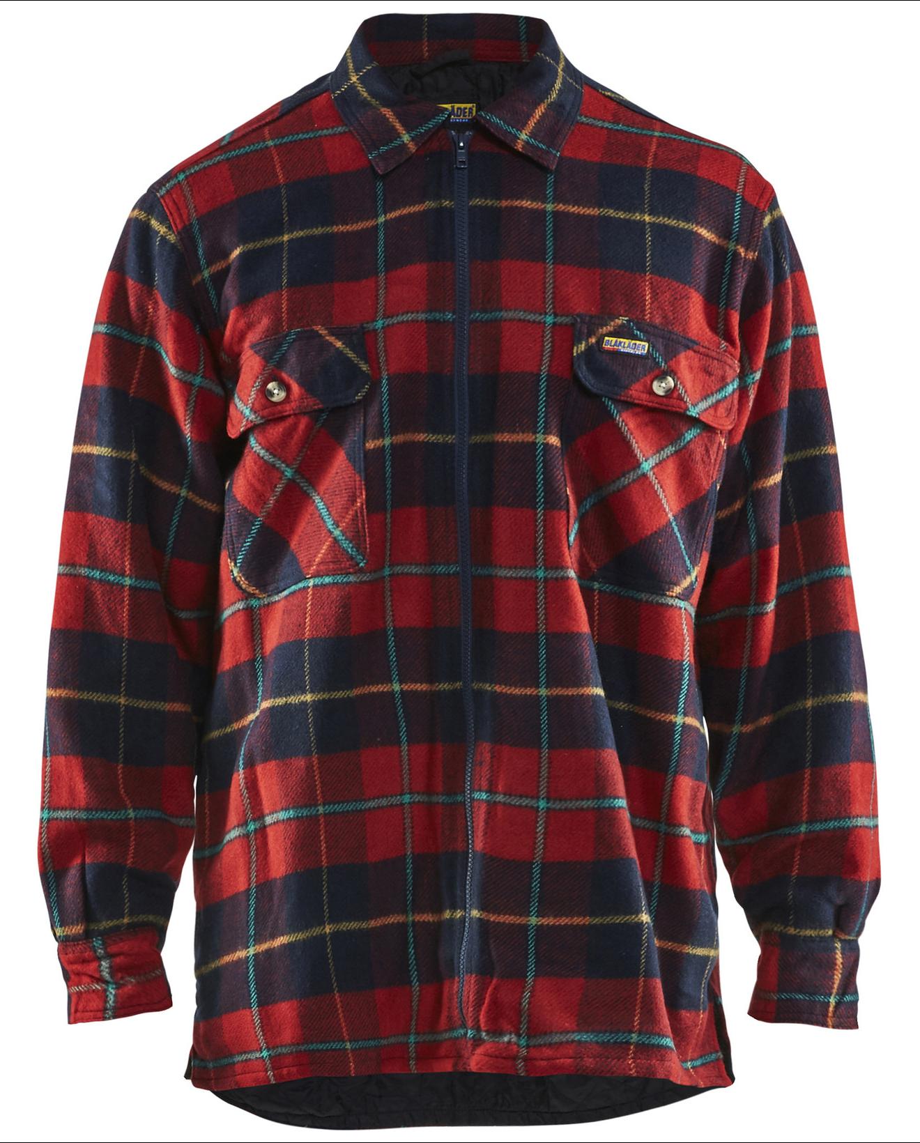 Flanellen Overhemd.Gevoerde Flanellen Overhemd