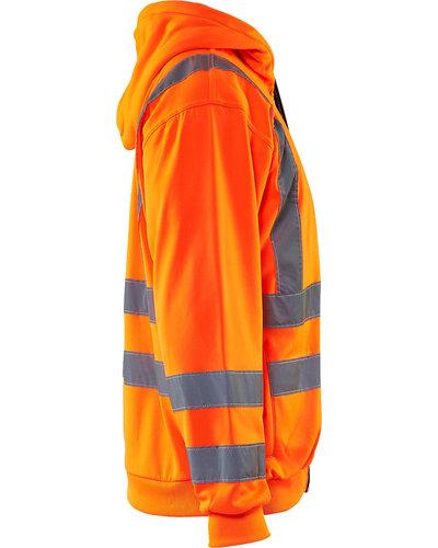 Blaklader Hooded Sweatshirt High Vis met striping