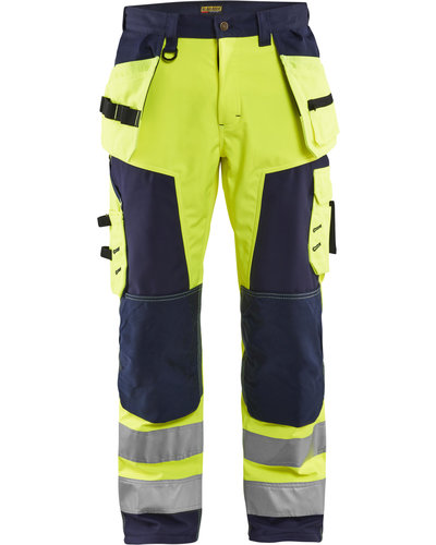 Blaklader Highvis klasse 2 softshell broek met striping