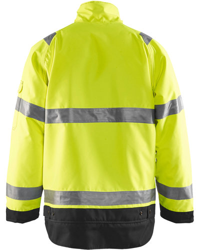 Blaklader Winterjas High Vis met striping