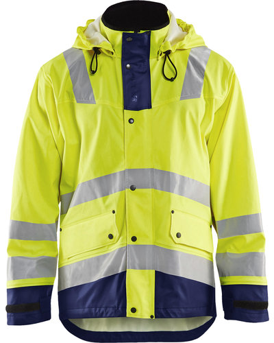 Blaklader Medium Hi-Vis regenjas met striping