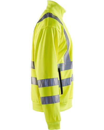 Blaklader Sweatshirt High Vis met striping