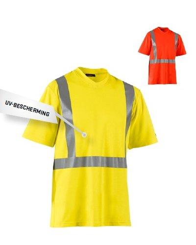 Blaklader T-shirt High Vis met striping