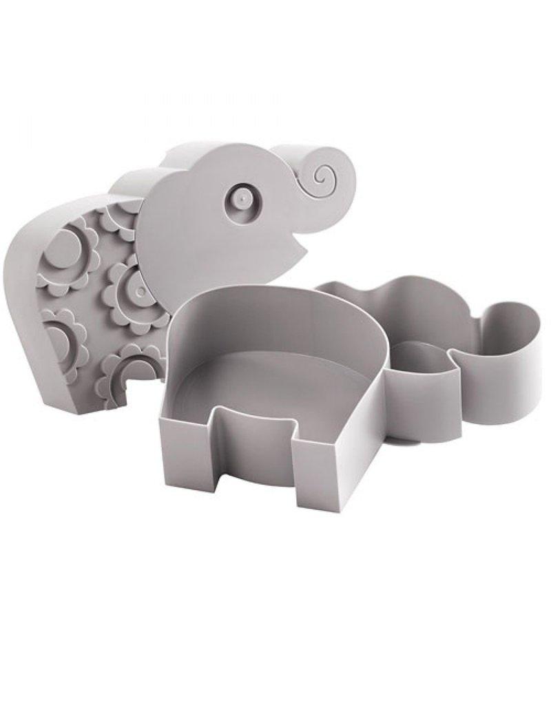 Blafre Lunchbox olifant | grijs
