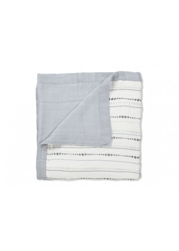 Aden + Anais Bamboo dream blanket | beads & solid grey