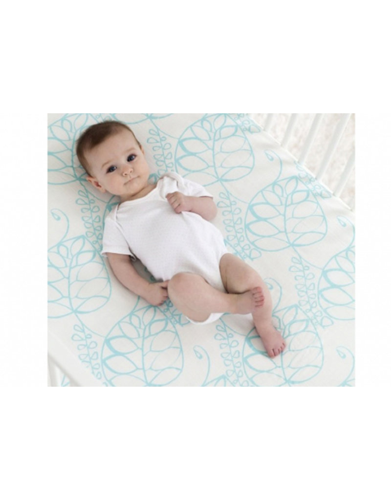 Aden + Anais Bamboo hoeslaken | tranquility leafy
