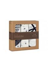 Aden + Anais 3 pack bamboo inbakerdoeken - black & white