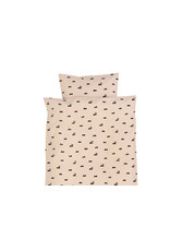 Ferm Living Dekbedovertrek ledikant - rabbit rose