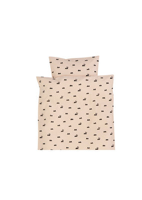 Ferm Living Dekbedovertrek - rabbit rose junior en adult