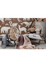 Ferm Living Behangpapier Animals | toffee brown