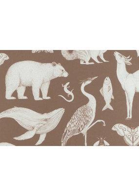 Ferm Living Behangpapier Animals| toffee brown