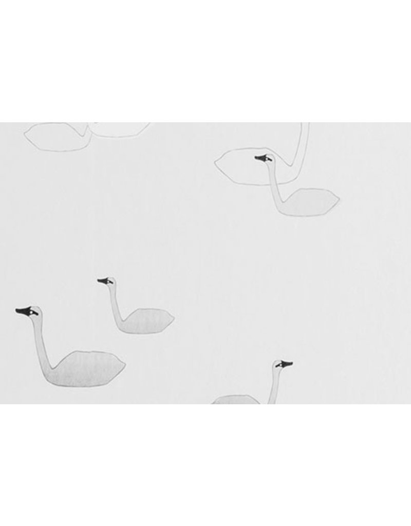 Ferm Living Behangpapier Swan - grey