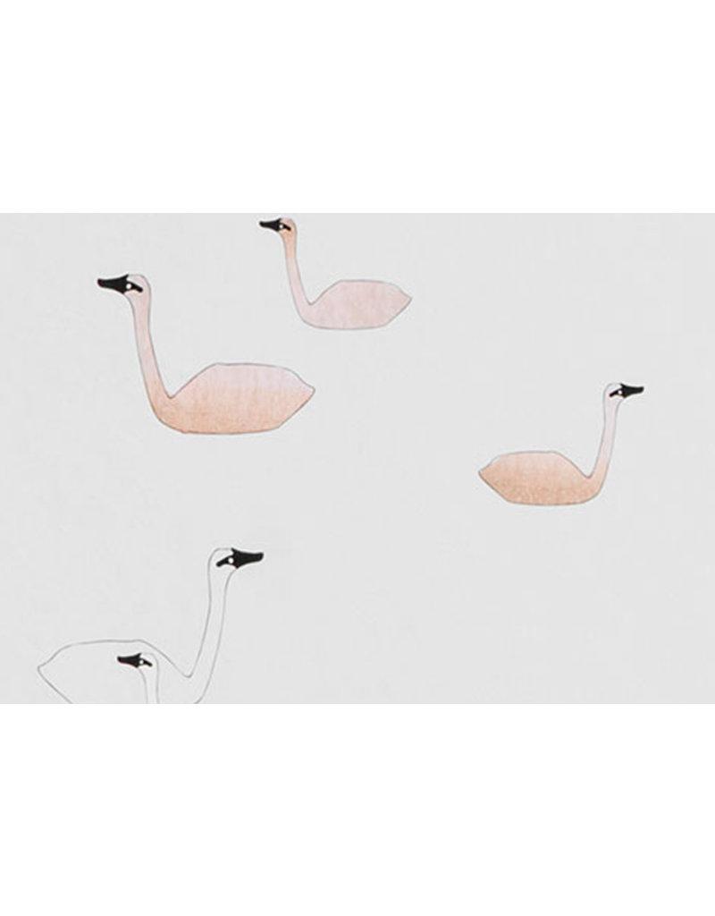 Ferm Living Behangpapier Swan | rose