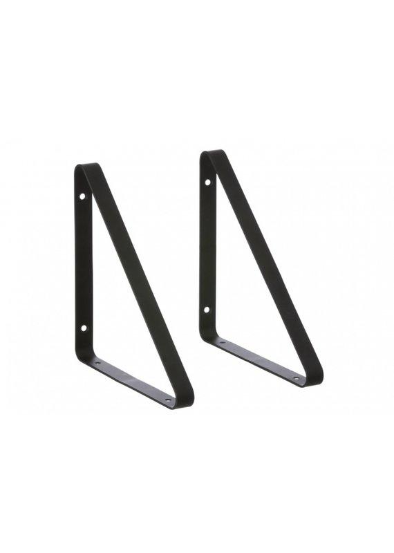 Ferm Living Metal shelf hangers | black