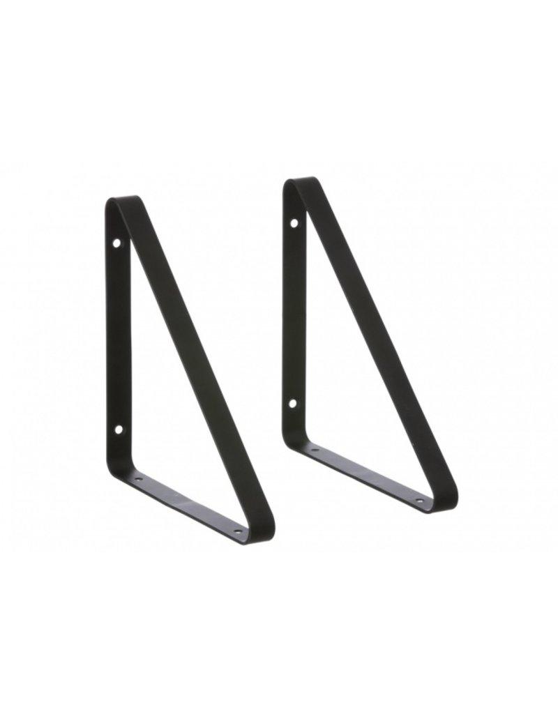 Ferm Living Metal shelf hangers   black