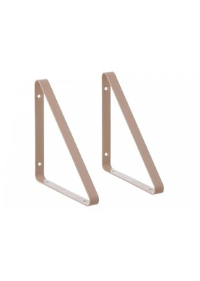 Ferm Living Metal shelf hangers | rose