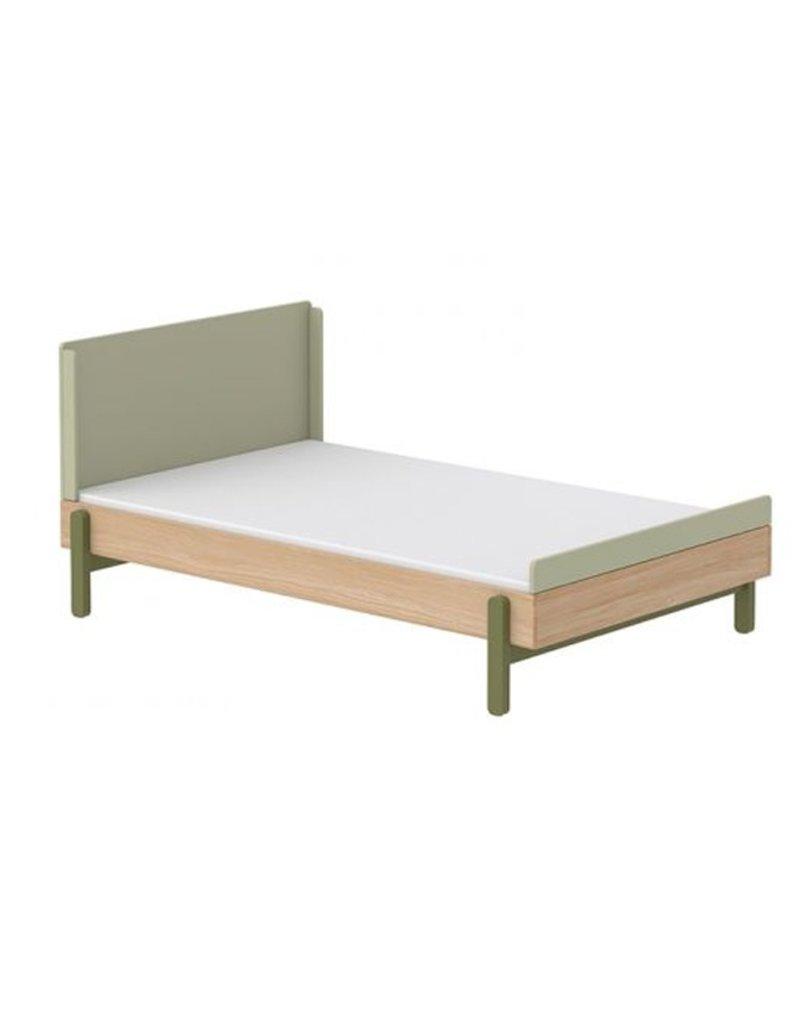 Flexa Popsicle Bed met hoofd- en voetenbord  - eiken/kiwi