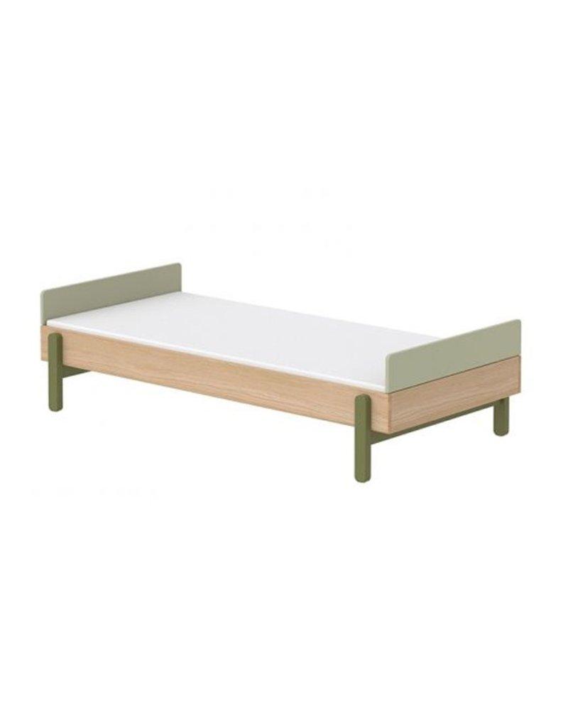 Flexa Popsicle Bed met hoofd- en voetenbord 90x200cm - eiken/kiwi