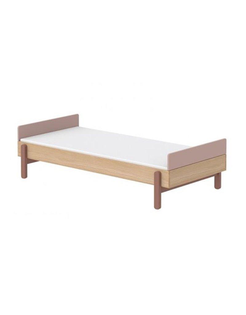 Flexa Popsicle Bed met hoofd- en voetenbord 90x200cm - eiken/cherry