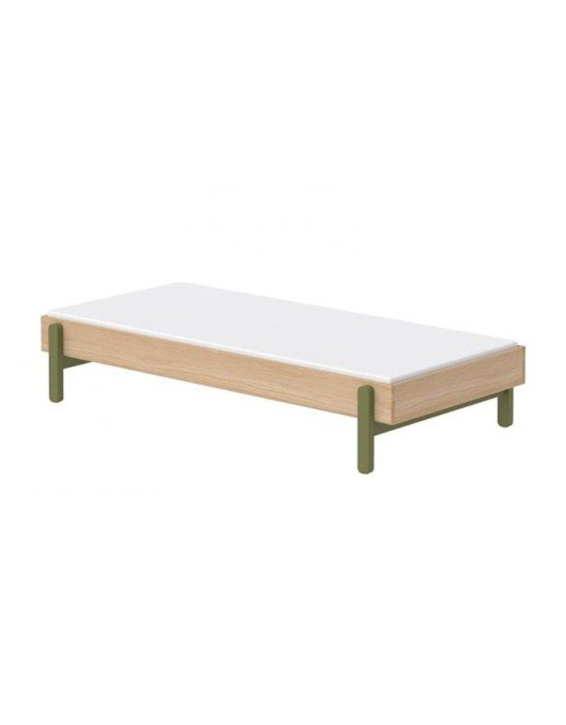 Flexa Popsicle Bed 90x200cm - eiken/kiwi