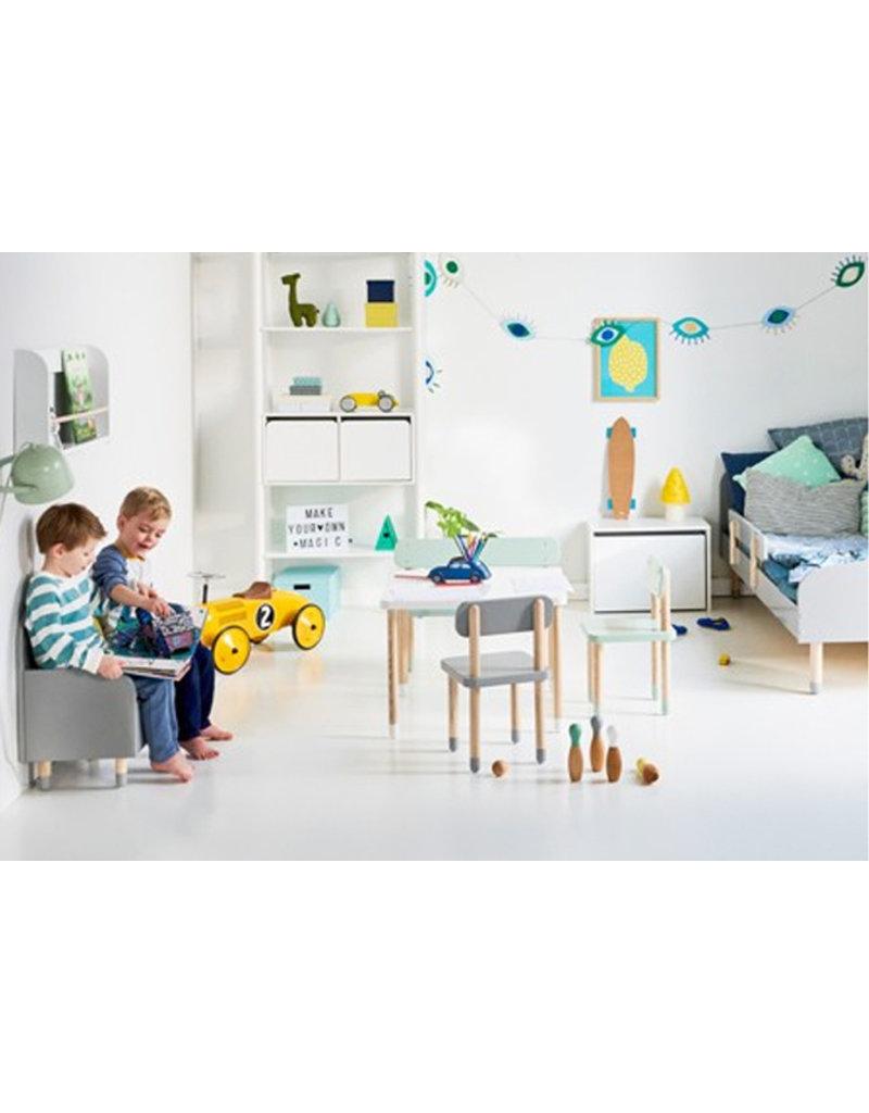 Flexa Kids opbergbank - urban grey