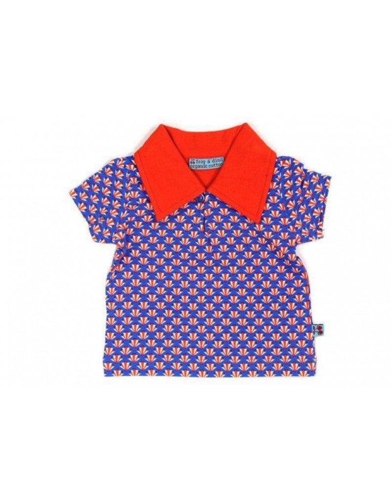 Froy & Dind Polo shirtje | artdeco blue