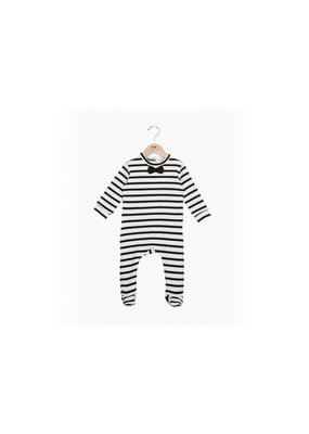 House of Jaimie Bow Tie babysuit little stripes