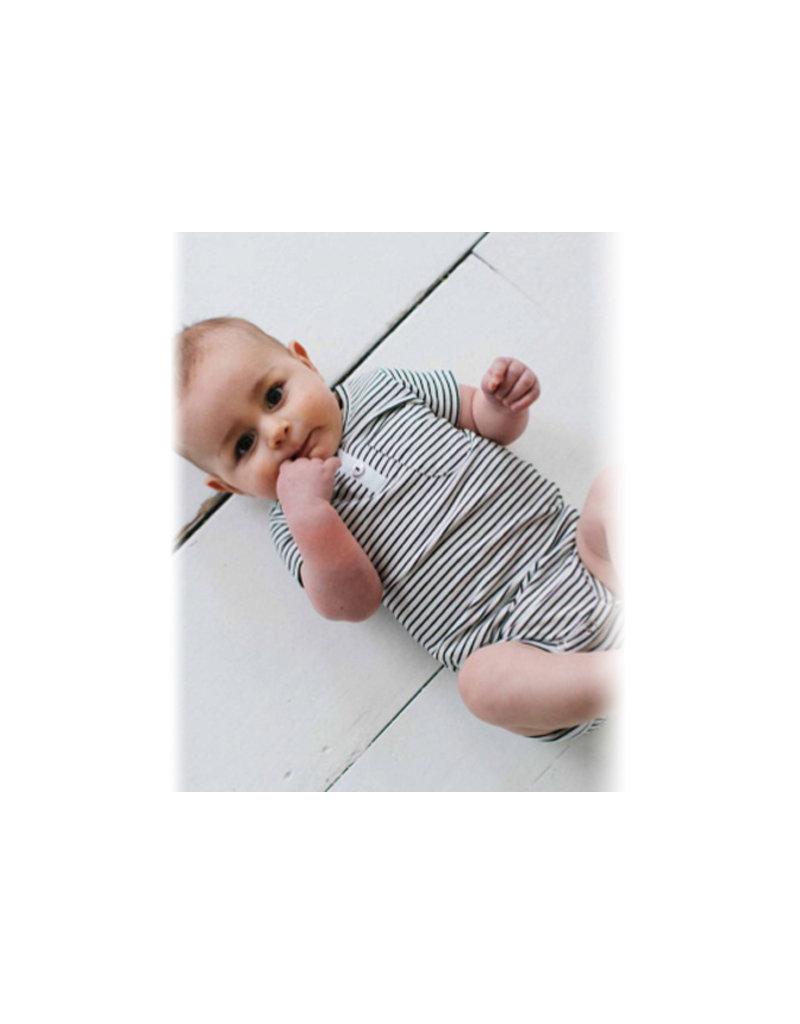 House of Jaimie Button bodysuit little stripes