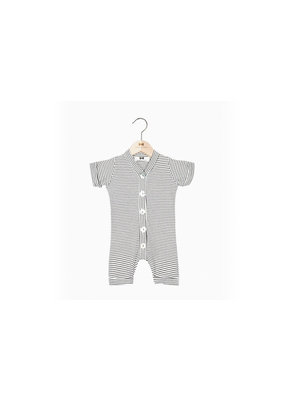 House of Jaimie Button suit Litlle Stripes