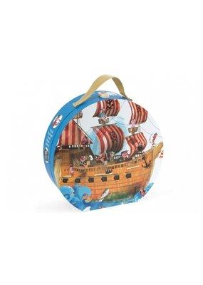Janod Coole vloerpuzzel - piratenboot