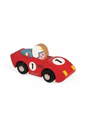 """Janod Racewagen uit """"Story"""" reeks - rood"""