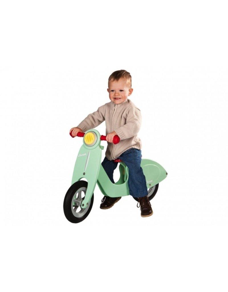 """Janod Fantastische loopfiets """"scooter"""" - mint"""