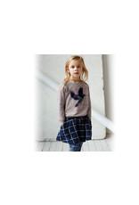 Kidscase Sugar organic girls sweatshirt - pink/grey