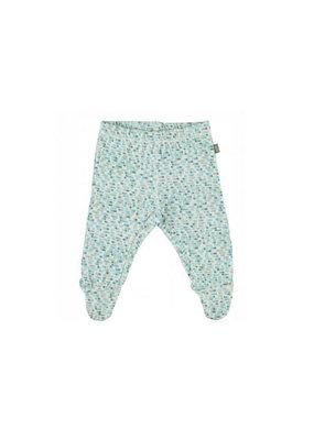 Kidscase Happy organic broek met voetjes - light blue