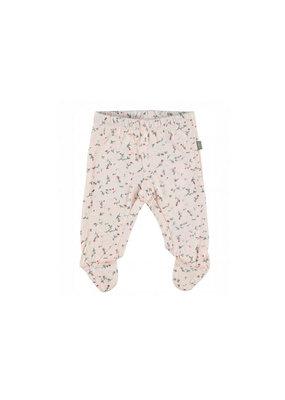 Kidscase Happy organic broek met voetjes -  light pink