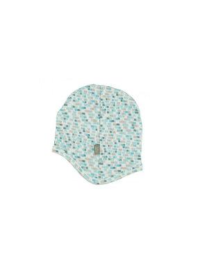Kidscase Happy organic mutsje 3-6m - light blue