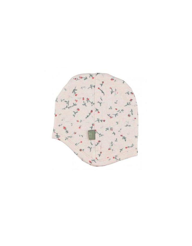 Kidscase Happy organic mutsje 3-6m - light pink
