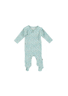 Kidscase Happy organic kruippakje - light blue