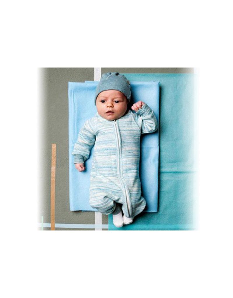 Kidscase Hope organic mutsje 3-6m - light blue