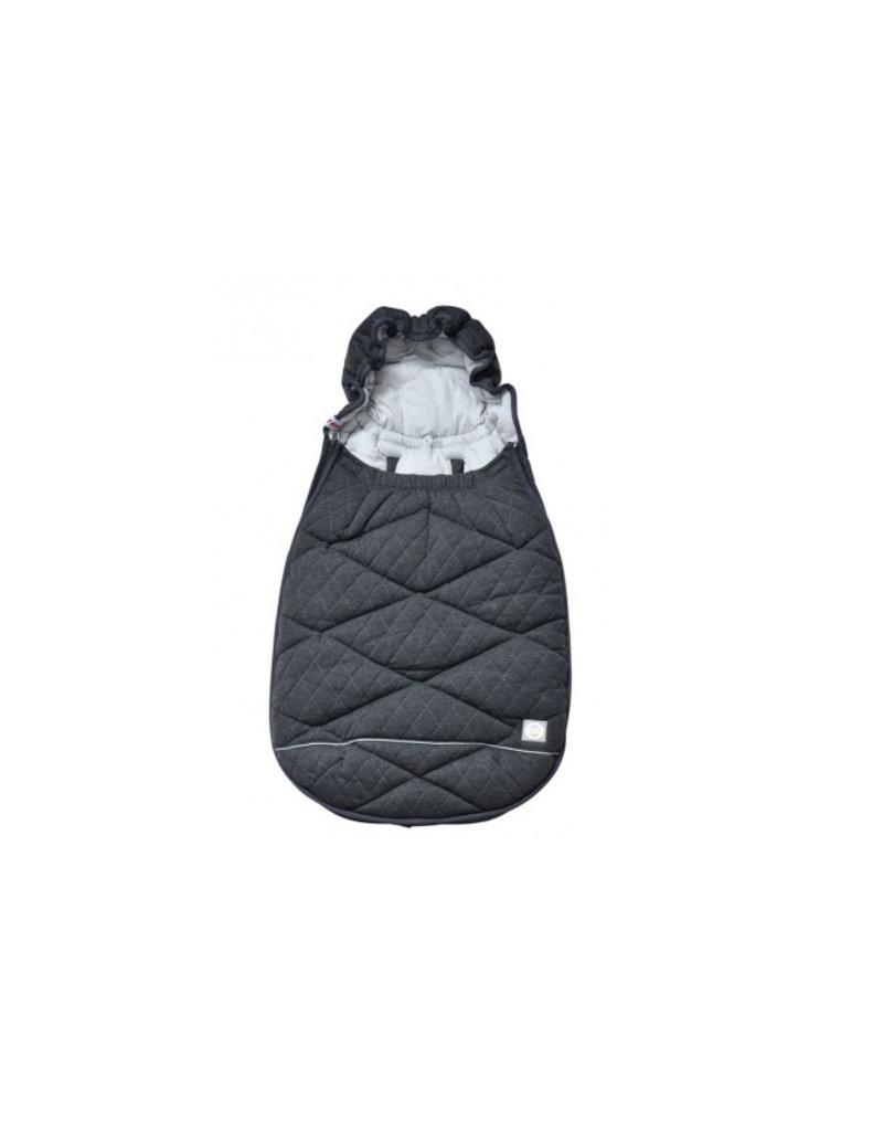 Lodger Mini bunker fleece voetenzak (0-12m) - donkergrijs