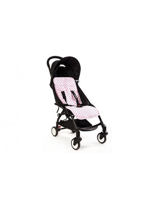 My little baby rock Seatliner voor wandelwagen - roze skulls