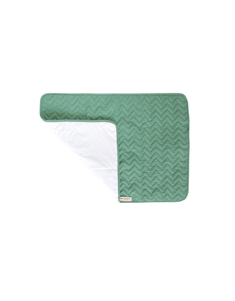 Nobodinoz Verzorgingsmatje Marbella Pure - Siesta green