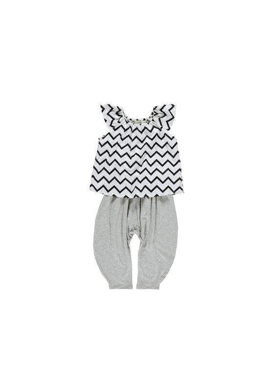 Nobodinoz Ceylon pyjama - zig zag black